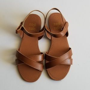 NWOT Zoe & Zac Flat Brown Sandals